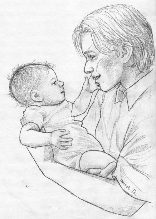 """heytheremerandaaaa: """"harbek:"""" Молодой Ремус Люпин с ребенком Гарри Поттера.  """"Zcvklhbjdf симпатичный вещь, которую я когда-либо видел.  """""""