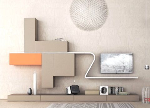 The Novamobili Wave System Pairs Linear Wall Units With Curved And Straight  Shelves, With Stunning Results.