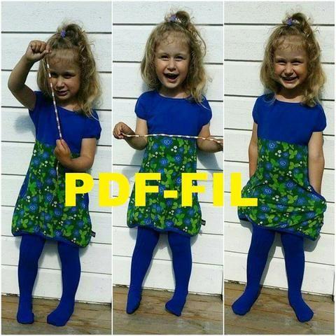 PDF Every day dress child size 80-164 (US 12-18M -14)