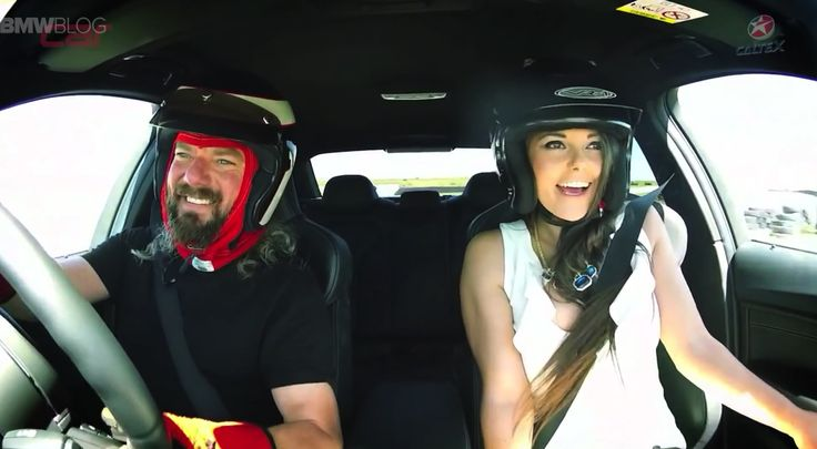 Hot girl gets a joyride in the new BMW M3 - http://www.bmwblog.com/2015/02/16/hot-girl-gets-joyride-new-bmw-m3/