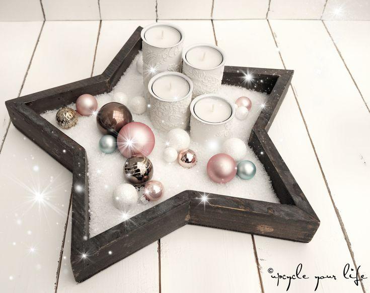 weihnachts-upcycling… adventskerzen aus toilette…