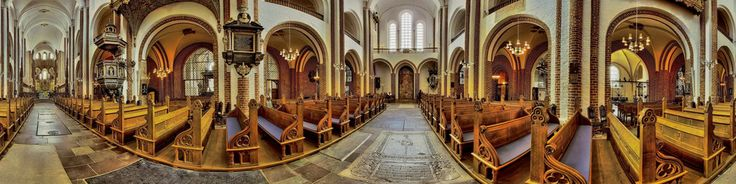 Cathedral in Roskilde is impressive building.   This is the first Gothic church in Scandinavia.  In the cathedral are graves kings and queens Danish!   It is worth visit!