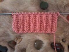 Tuto : apprendre à tricoter les côtes anglaises / tuto knit - YouTube