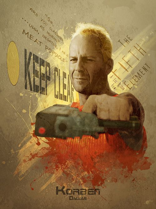 The Fifth Element - Korben by Anthony Genuardi *