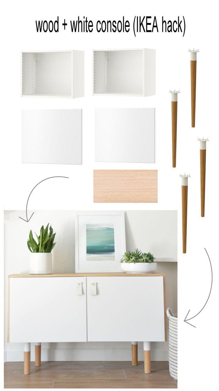 ikea furniture diy. Wood And White Console Ikea Hack. Furniture MakeoverDiy Diy C