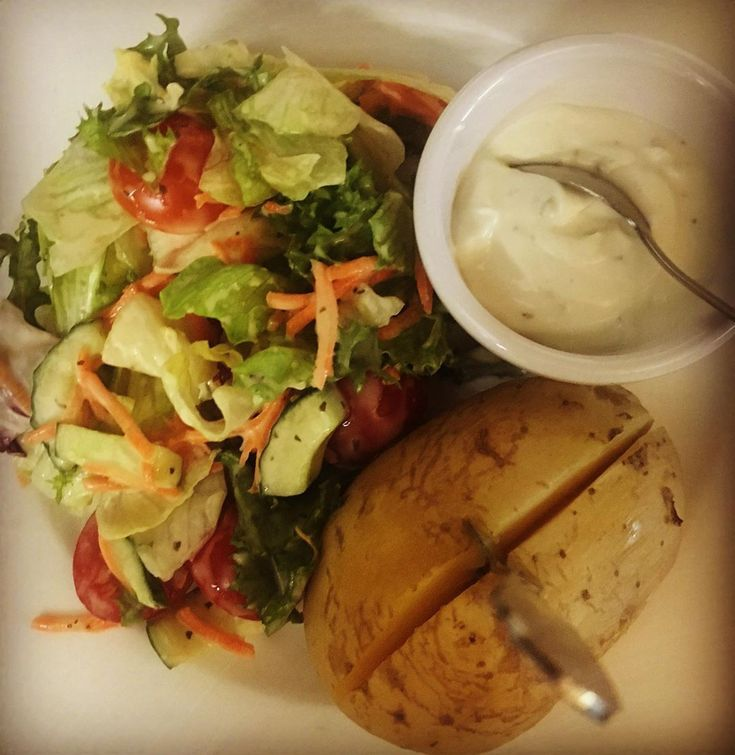 Ofenkartoffel Sour Creme Salat #ofenkartoffel #salad #sourcreme #diy #food