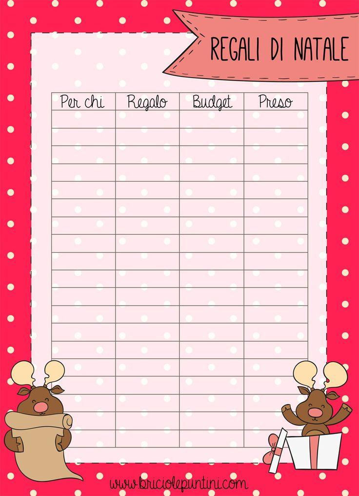 lista regali di Natale pdf stampabile