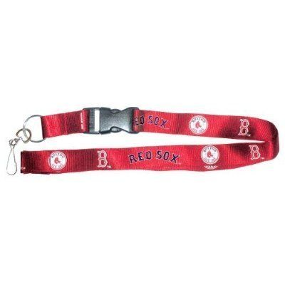 MLB Boston Red Sox Lanyard, Red by PSG. $5.55. 100% Nylon. Each 1-Inch wide x 18-Inch long Nylon. Boston Red Sox. Features full color team logos on both sides, a break away Velcro connection for safety. Officially licensed MLB team logo Lanyard. A snap buckle for quick removal of keys or badges without removing the entire lanyard from around your neck. MLB Team Logo Lanyards. Support your favorite team with this Officially Licensed MLB Team Logo Lanyard. Each 1 in...