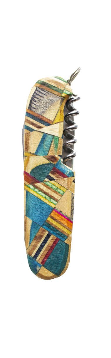 Handmade Recycled Skateboard Victorinox Swiss by CheddarProducts