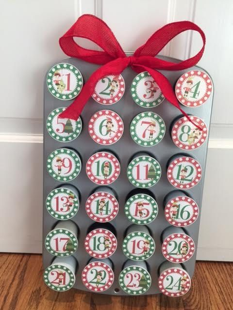 Elf K Cups Advent Printable 1-24 DIY Advent calendar Printable Elf Party Christmas Advent Calendar Gift Exchange Gift Coffee Lover Keurig Cups Keurig Coffee Gift