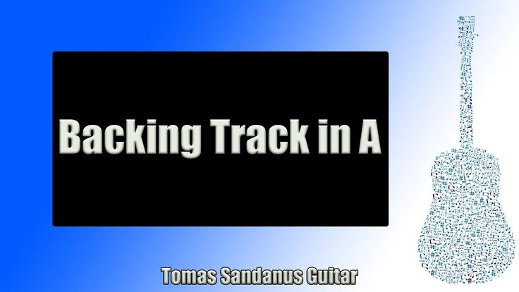 Backing Track in A Blues Rock Style with Chords and A Blues Scale