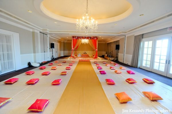 indian-wedding-ceremony-indoors-pillows-decor-ideas http://maharaniweddings.com/gallery/photo/2831