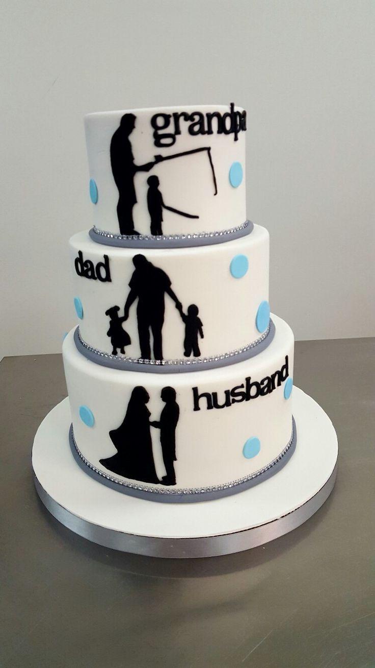 Grandfather birthday cake father's birthday cake