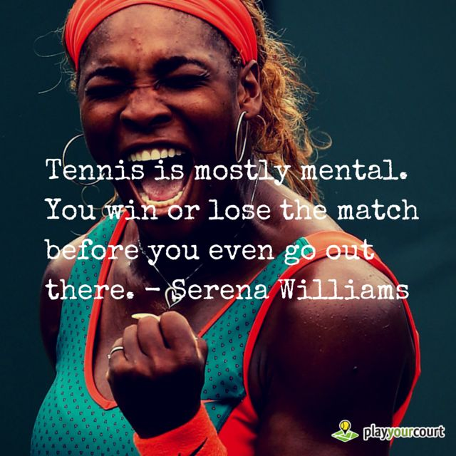 In honor of Serena Williams' awesome Wimbledon win. ‪#‎MondayMantra‬ ‪#‎MotivationMonday‬  Need work on your mental game? PlayYourCourt staff consists of college tennis coaches, touring professionals, nationally televised coaches, and world renowned tennis speakers. Find a PlayYourCourt coach in your area.