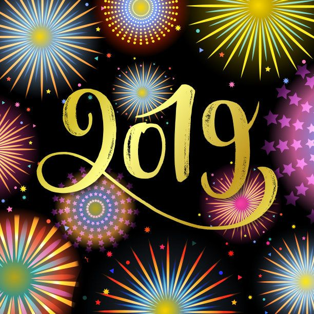 Stylish New Year 2019 Wallpaper  2019  Happy new year wallpaper