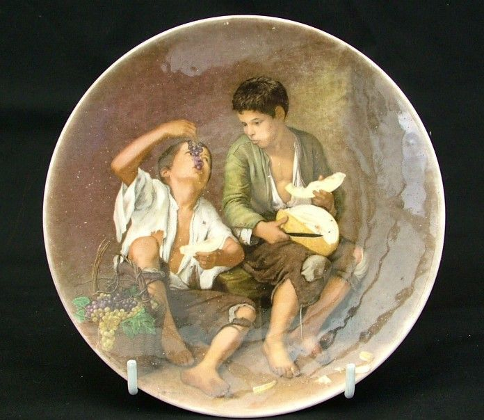 poole pottery plate beggar boys eating fruit location