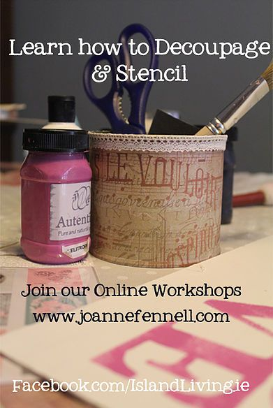 Interested in learning new creative techniques? Join our Online Workshops where you can learn how to decoupage online and stencil from the comfort of your home.