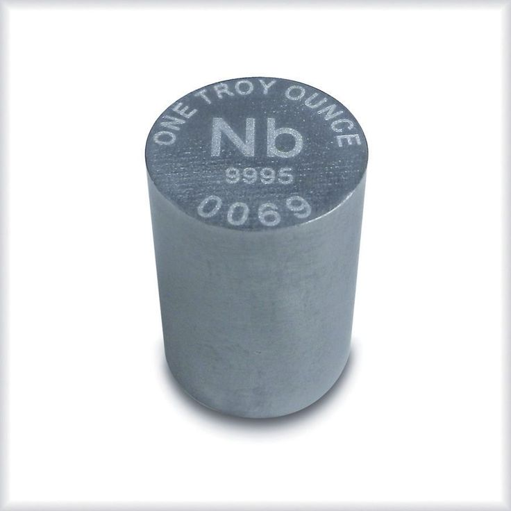 Niobium has a very high melting point yet low density and is corrosion resistant. It is has the largest magnetic penetration depth of any element, has superconductive properties, and a low capture cross section for thermal neutrons. | eBay!