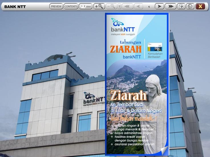 Brosur Tabungan Ziarah Bank NTT (cover page) I Inspirasi Media