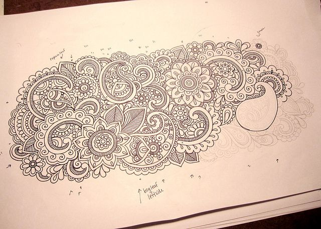 Henna Doodle Design in Progress 3 | Flickr - Photo Sharing!