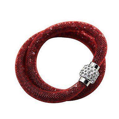 Trendy wikkelarmbanden in rode kleur unieke ontwerp