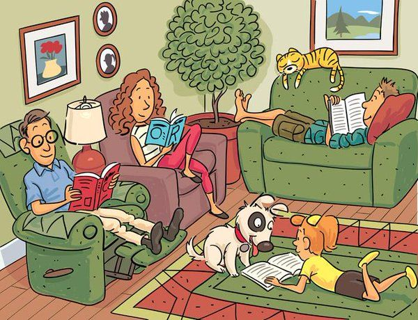 Can you find the 6 words hidden in this drawing?