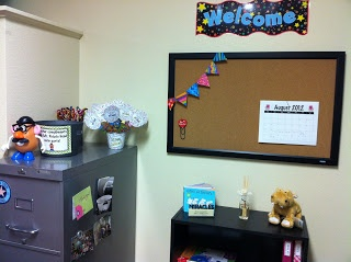 Teacher's desk area inspired by #CTP