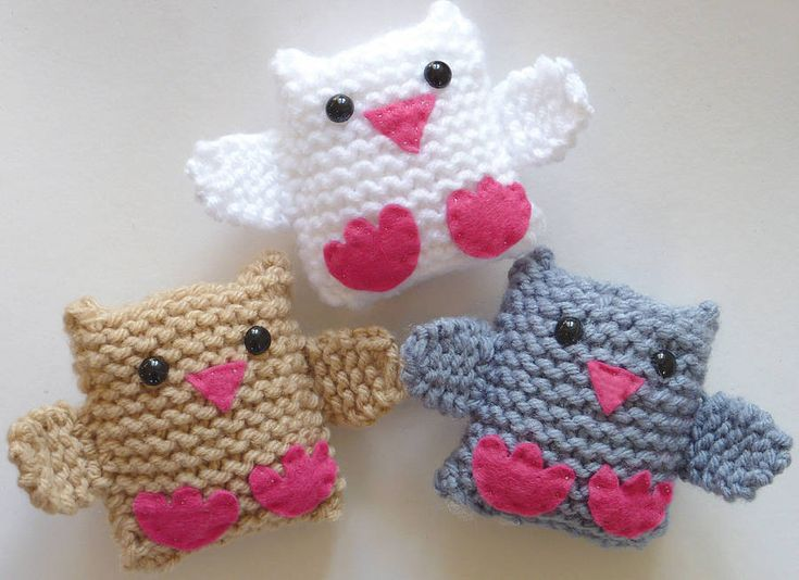 Jingle Birds Learn To Knit Kit | Gift Horse Knit Kits, via Not on the High Street. Kit contains everything you need to knit these 3 adorable, soft and squeezable birds in 3 different colors  -- including plenty of chunky wool, thick 4mm bamboo knitting needles which are perfect for small hands, thread, felt, safe darning needle, paper patterns, stuffing, 3 pairs of toy safety-eyes, 3 bells, and of course, full-color, illustrated instructions.