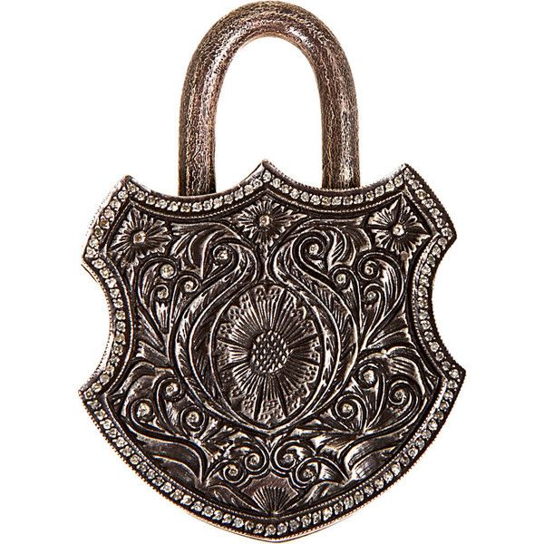 Sevan Bicakci - Silver Antique Pad Lock (33.125 BRL) ❤ liked on Polyvore featuring women