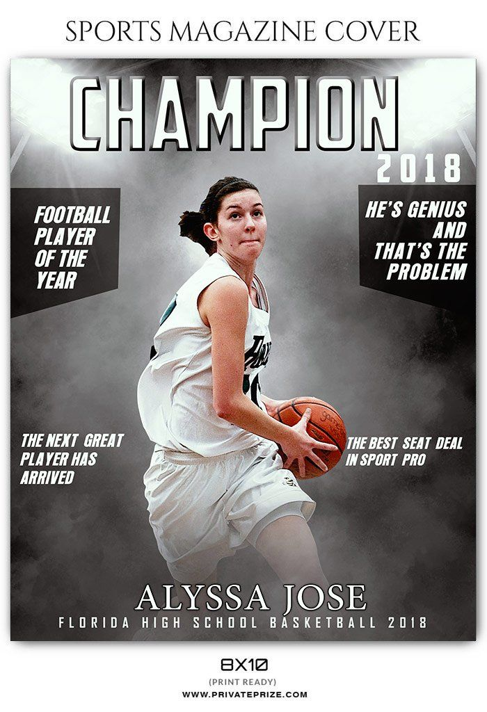 Basketball Sports Magazine Cover Photography Templates