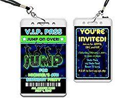 Trampoline Party Invitation Ideas
