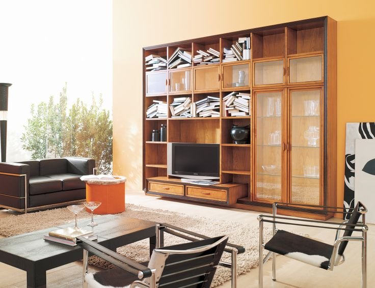 Italian Designer Modular Wall Unit System Handmade In Cherry Wood. Gio Uses  Shapes And Colors