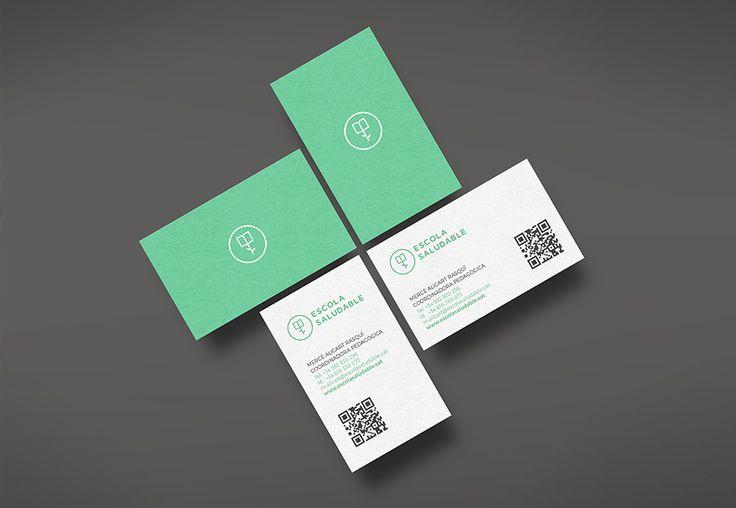 Diseño de la marca Escola Saludable, una empresa de servicios ecológicos y saludables para niños.