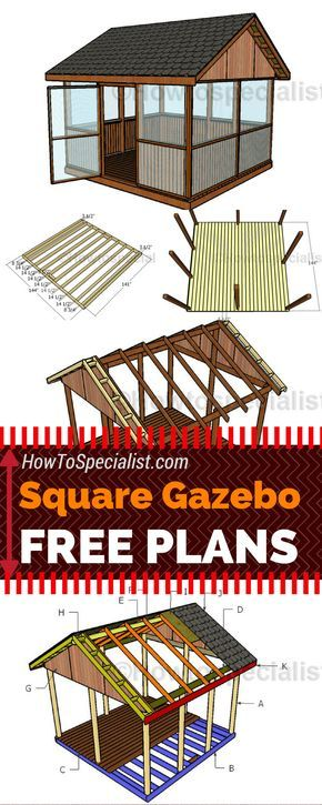 it is super easy to build a screened gazebo for your backyard check out my - Screened Gazebo