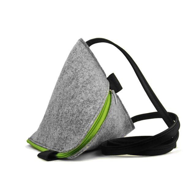 COOKIE felt bag - Purol Design  COOKIE is a bag of geometrical shape, made of felt and genuine leather.