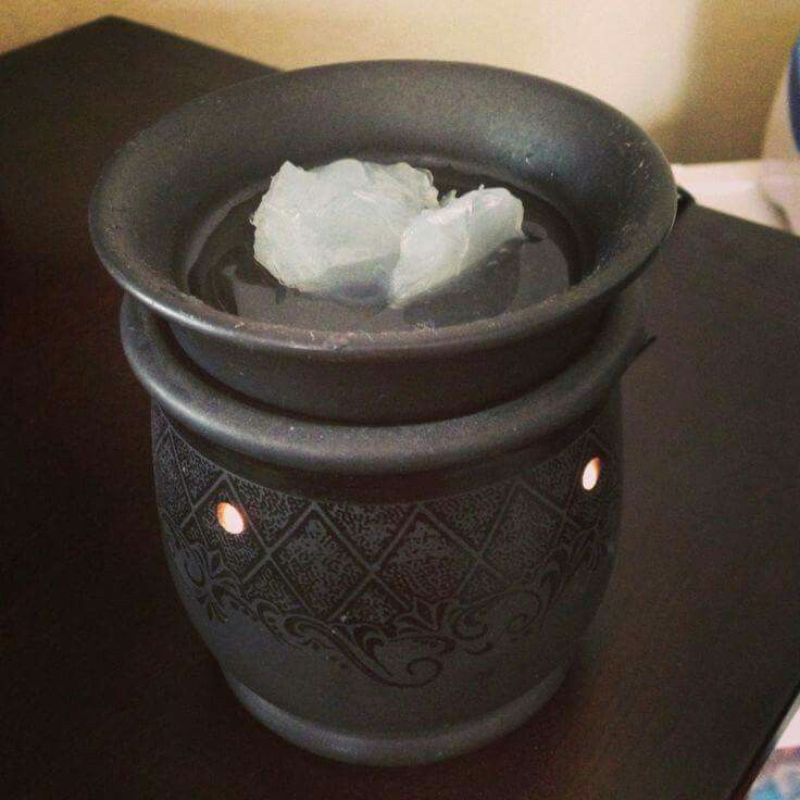 1 tbsp of Vicks 1 tbsp of luke warm water put in wax melt warmer to help ease child's congestion. Genius!