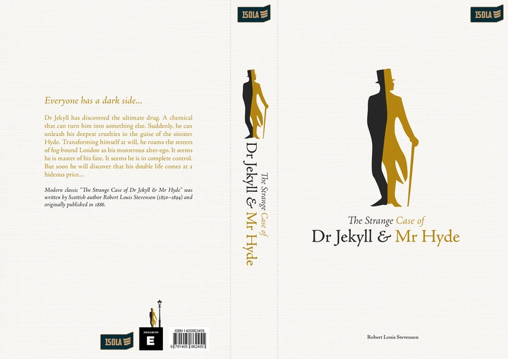Book cover / School project / 'The Strange Case of Dr Jekyll & Mr Hyde'