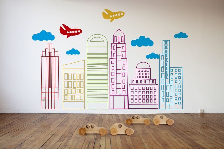 Wall Stickers, £94.99, Not On The High Street, http://www.notonthehighstreet.com/ficklestix/product/livin-in-the-city-wall-stickers