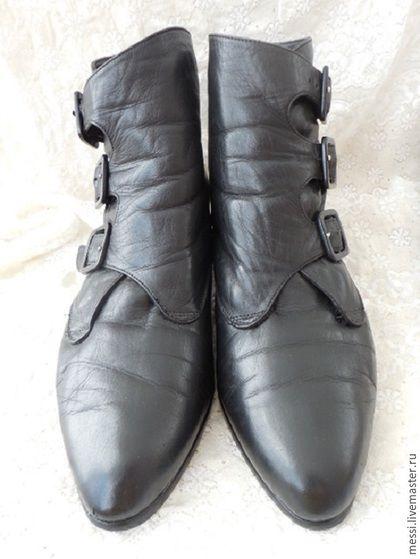 Винтажная обувь. Винтажные ботильоны Gautsche, р.38,5 БоХо, кожа. Messy. Ярмарка Мастеров. Женская обувь