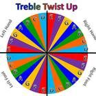 Print out this Treble Twist Up board.  Laminate it and add a spinner.  In my music classroom I put a staff on the floor with tape and then we play ...