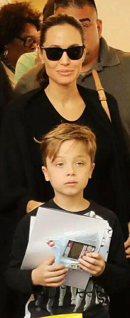 Knox Jolie-Pitt & Angelina Jolie