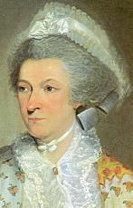 """First Lady Abigail Smith Adams, BIO, (this portrait, painted while she was in Europe) First Lady 1797 - 1801 Of the four years her husband served as President, Abigail Adams was actually present in the temporary capital of Philadelphia and then, finally, the permanent """" Federal City, """" of Washington, D.C. for a total of only eighteen months. She nonetheless made a strong impression on the press and public."""