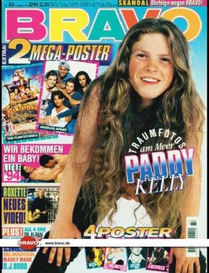 Bravo - 33/94, 11.08.1994 - Paddy Kelly (Kelly Family) - Roxette -