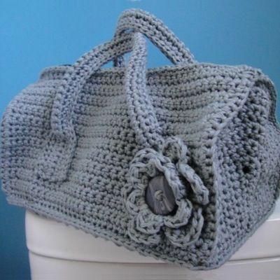 Patrón Bolso petate de crochet