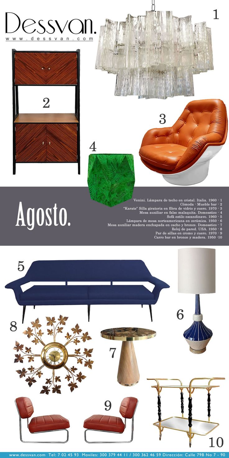 Boletín Agosto Newsletter www.dessvan.com Tel: 7 02 45 93 Calle 79B # 7-90, Bogotá  #dessvan #dessvanantiguedades #vintagebogota #bogota #colombia #mueblesbogota #mobiliariobogota #calledelosanticuarios #lamparas #lamparasbogota #antiguedadesbogota #designbogota #midcenturybogota #interiorismo #AsesoriaDecoracion