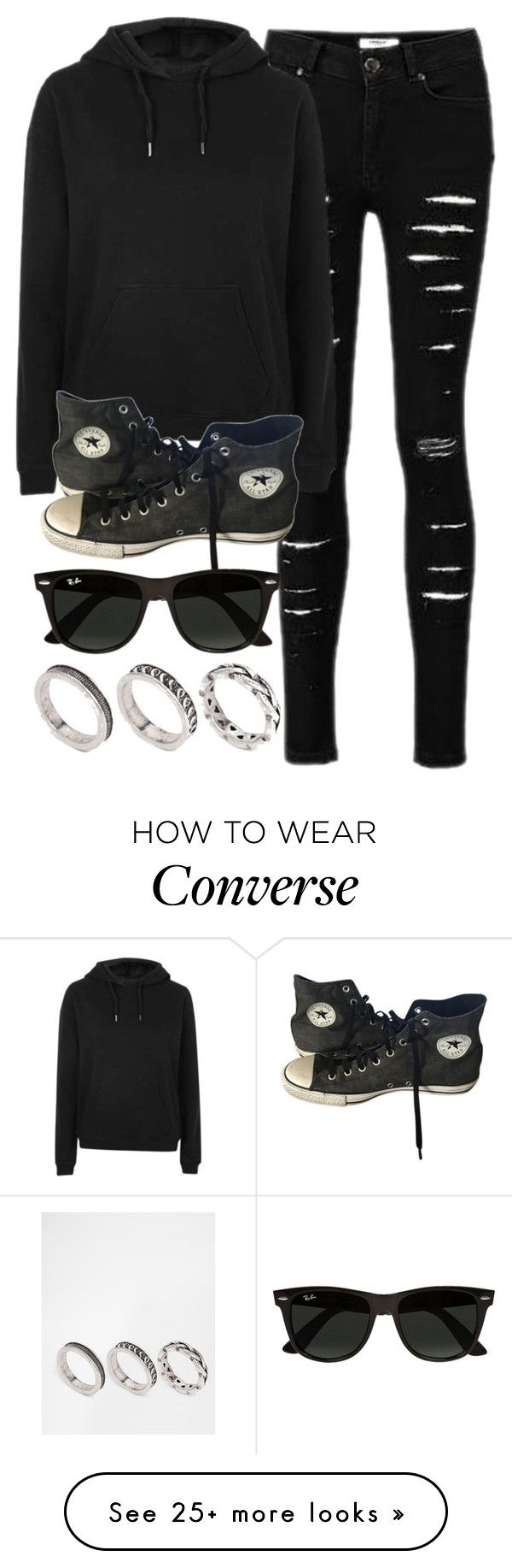 """Style #11572"" by vany-alvarado on Polyvore featuring Topshop, Converse, Ray-Ban and ASOS"