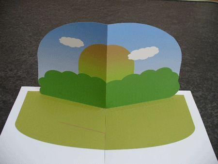 飛び出す絵本・しかけ絵本の作り方 絵本を組み立てる2-8
