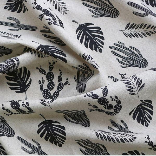 Шумные семьи диванные подушки шторы скатерти хлопок ткани ткани поделки ручной работы черный кактус [145] 29