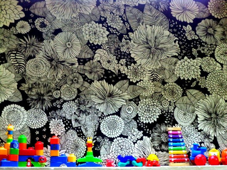 Prabha Zacharias : Flower Power Doodle Wall :)