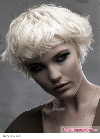 """Short bob. It website that it """"looks simply irresistible with all hair types,"""" but I'm wondering if it would really work with my super straight hair."""